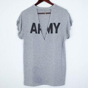 Better Be Army Choker Tee Shirt Tunic Gray